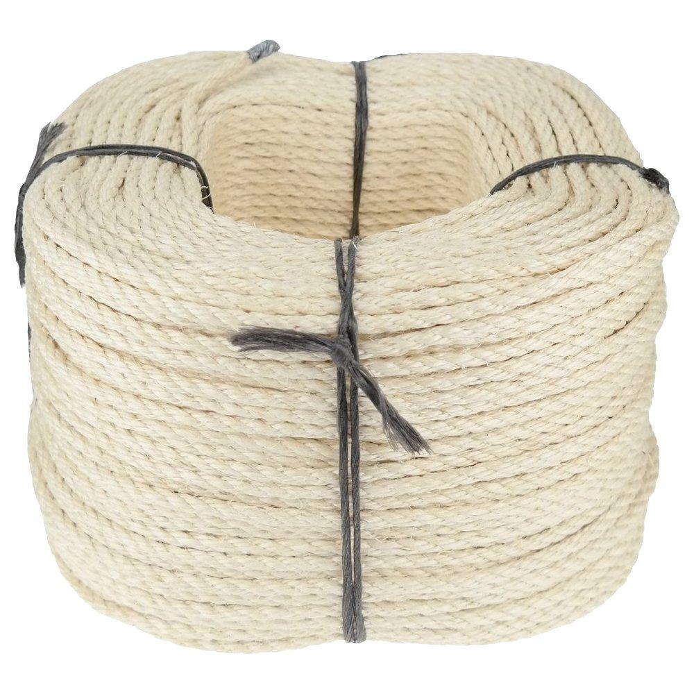 Sisalseil Seil 8mm 220m Trosse 4litzig gedreht Güteklasse A  HaustierKundenbewertungen