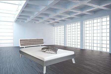 """Cama """"Sydney"""" con cojín para la cabeza de la parte de piel sintética - cama de 180 x 200 cm - colour negro - matrimonial - Marco de la cama - marco de madera de la cama - de madera maciza/madera de DM - protector de pantalla - Ador"""