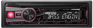 Alpine CDE-181RR Autoradio CD/DVD 1 x USB Noir, Rouge