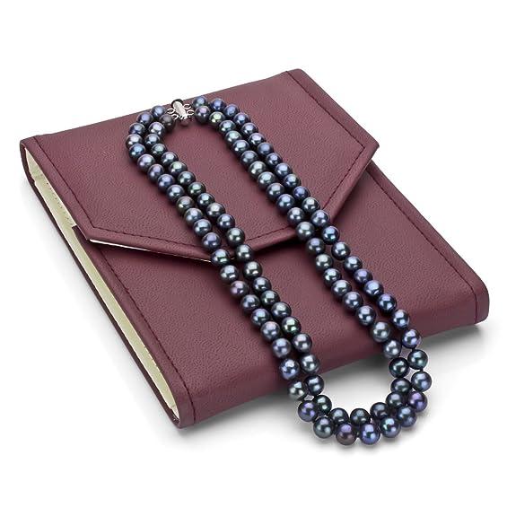 海淘珍珠项链:La Regis Pearl双排纯银淡水珍珠项链