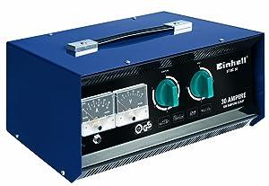 Einhell BTBC 30 Batterieladegerät, umschaltbare Ladespannung 6/12/24 V, Bleiakkus von 3 Ah bis 400 Ah, Volt u. Amperemeter, Fernstartkabel  AutoÜberprüfung und weitere Informationen