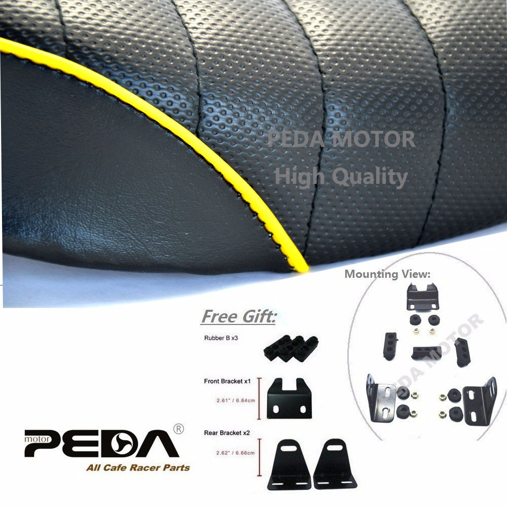 PEDA New Motorcycle Vintage Seat For HONDA Monkey Z Retro Hump Yellow 1