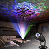 Zeonetak Colorful Automatically Moving Water Wave LED Projector Sleep Soothing Baby Room Night Light Spotlight for Home Party Wedding Decoration(Projection Area 50-80 sq ft) (Colorful-A) (Color: Colorful)