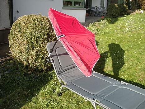 Camilla-STABILO-Kit de viaje-Ascoli Piceno-Acolchado Cómodo Plegable transportable Tumbona con respaldo regulable como camping cama + compartimiento pantalla Colores-Rojo-Naran