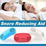 Joruby UPGRADED Advanced 2-IN-1 Anti Snoring and Air Purifier Sleeping Breath Aid Nose Clip Snore Stopper to Ease Breathing Snoring ,Natural and Comfortable Sleep (Blue) (Color: Blue)