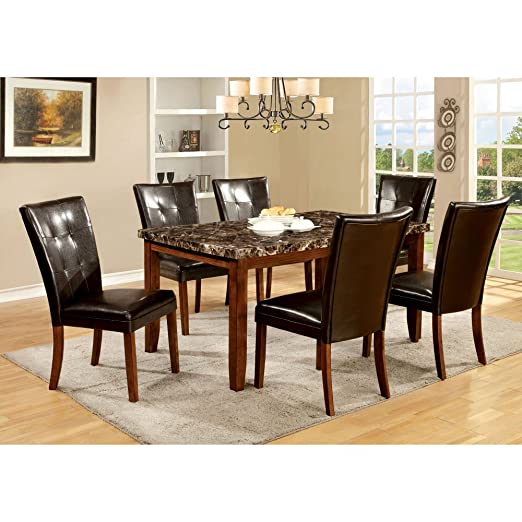 Furniture of America Wilmont 7 Piece Dining Table Set