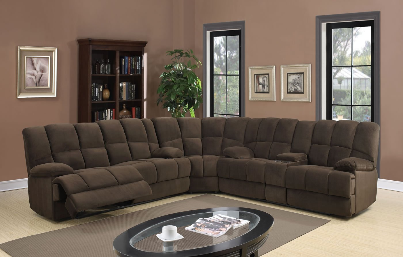 Global Furniture U201 - SECTIONAL Dona Sectional - Chocolate