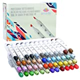 48 Professional Brush Markers Set for Drawing Manga Markers Illustration with Blender Sketch Marker Copic Markers Alternative (Color: Mulricolored, Tamaño: 48)