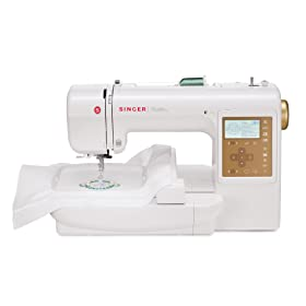 Singer S10 Studio 5.5 by 5.5-Inch and 2 by 2-Inch Embroidery Machine width=