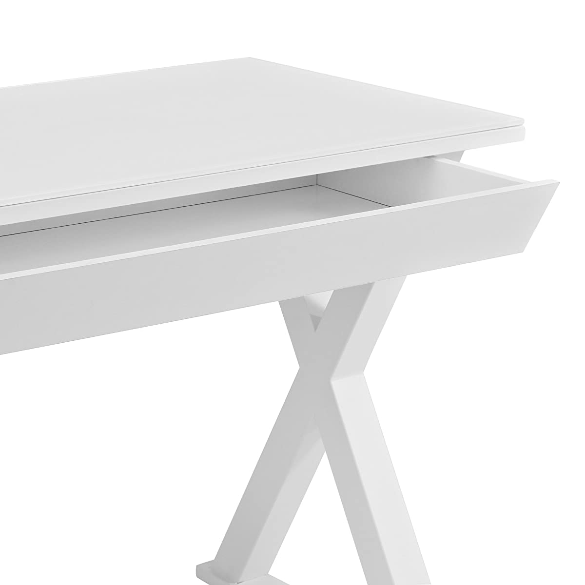 "WE Furniture 48"" Storage Computer Desk, White"