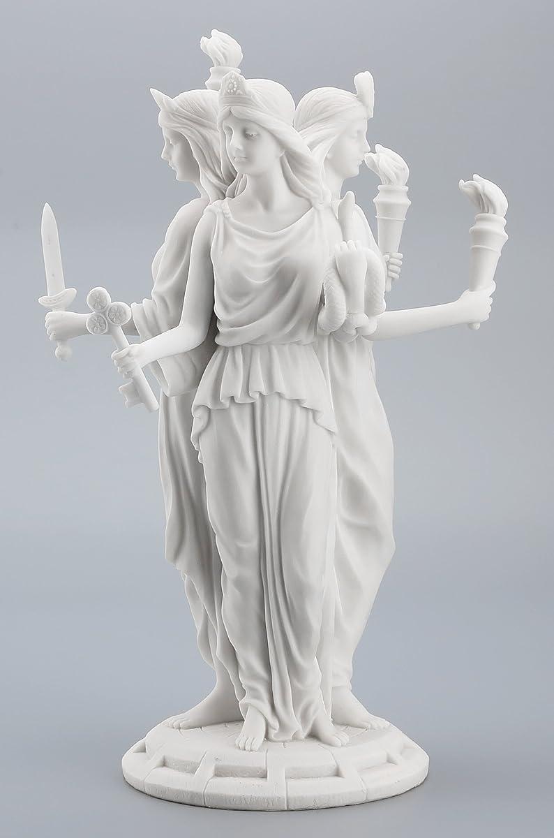 Large Greek Goddess Hecate Triple Goddess Statue Figurine (White)