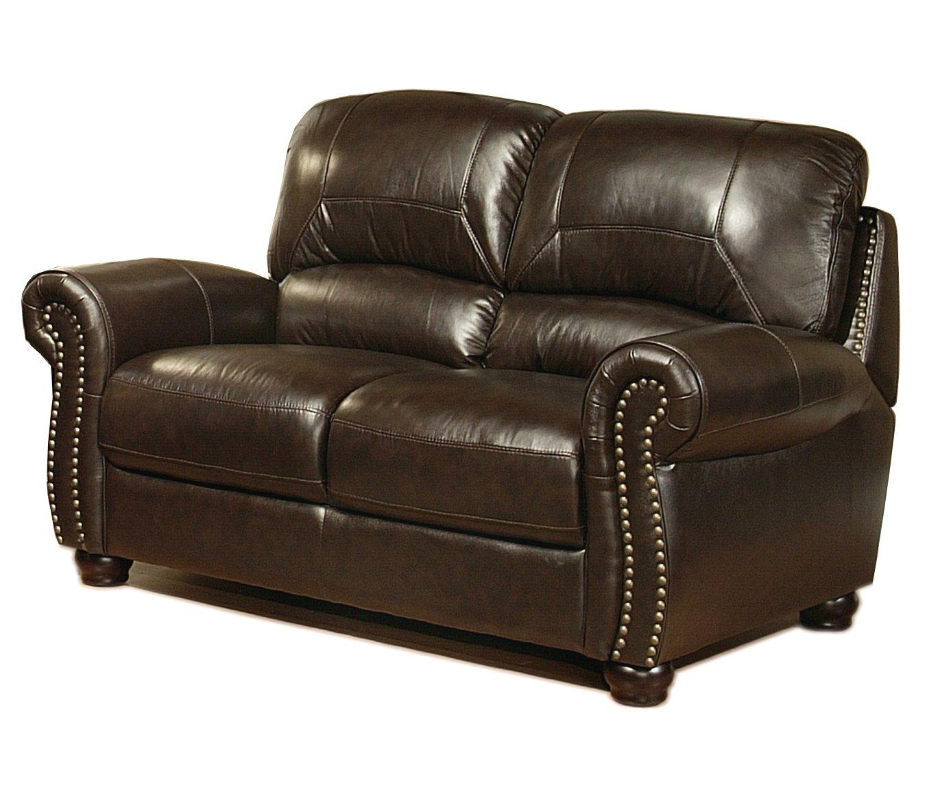 Abbyson Living Broadway Italian Leather Sofa