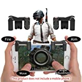 PUBG Mobile Game Controller Autra Fire Button and Aim Key Joystick Shooter control Gaming Gun Trigger for Rules of Survival, Sensitive Shoot for iPhone,Sumsung Galaxy,Android,IOS (1 Pair) (Tamaño: 1 Pair)