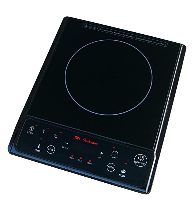 Sunpentown Home Indoor Kitchen 1300W Induction In Black Countertop