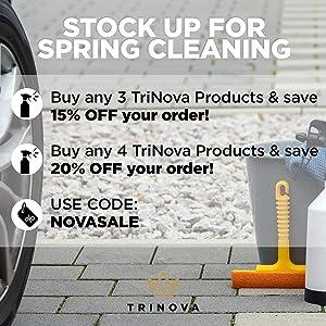 TriNova Plastic & Trim Restorer - Shines & Darkens Worn Out Plastic, Vinyl & Rubber Surfaces - Protects Cars & Motorcycles from Rain, Salt & Dirt - Prevent Fading - 8 OZ (Tamaño: 8 Ounces)
