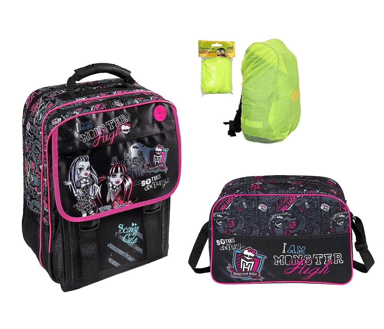 Monster High großes Schulrucksack Set 3-tlg. MHIN8300 + Sporttasche + Regen-/Sicherheitshülle günstig