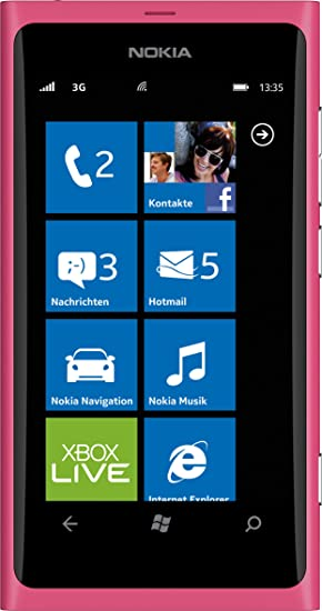 Nokia Lumia 800 Smartphone - Ecran tactile 9,4 cm - 3,7 pouces - Appareil photo 8 mégapixels - Windows Phone Mango OS - Fuchsia