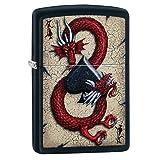 Dragon Ace Design Pocket Lighter (Color: Ace of Spades, Tamaño: One Size)