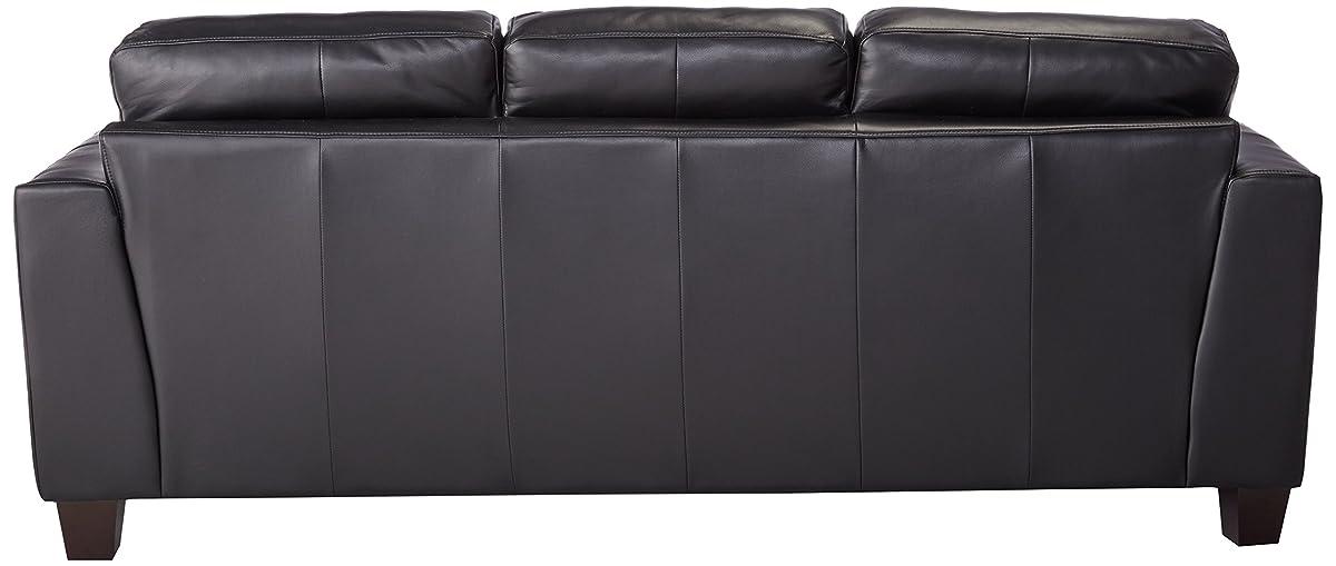 Samuel Leather Sofa Black