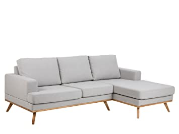 "Sofa Couch Couchgarnitur Stoffcouch Stoffsofa Sofagarnitur Chaise ""Nordin I"" Chaise rechts"