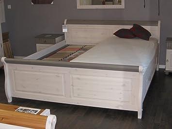 っMALTA ⓪ Doppelbett 140 x 200cm Kiefer massiv (weiß ...