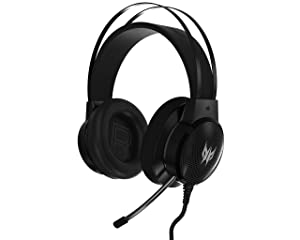 Acer Predator Galea 300 Gaming Headset - TrueHarmony Technology, 40mm Driver Bio-Cellulose, Retractable Omni-Directional Microphone (Color: Black)