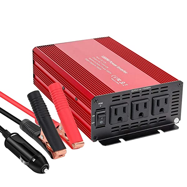 2000W DC 12V to 110V Car Solar Power Converter with 2 AC Outlets /& USB Ports for Household Appliances in case Emergency Car USB Power Inverter Converter Hurricane Storm and Outage