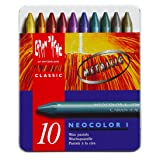 Neocolor I Water-Resistant Wax Pastels, 10 Metallic Colors (Color: Multi)