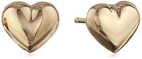 Duragold-14k-Yellow-Gold-Tiny-Heart-Button-Earrings