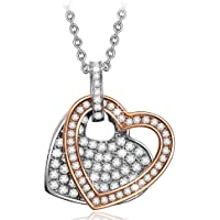 Pauline & Morgen Crystal Heart Necklace