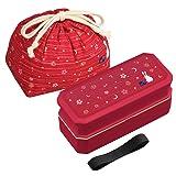 Japanese Traditional Rabbit Moon Bento Box Set, PW-9C Renewal Version, Dishwasher-safe by OSK (Color: Red, Tamaño: 770ml)