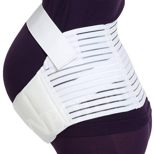 Maternity Belt - NEOtech Care ( TM ) Brand - Pregnancy Support - Waist / Back / Abdomen Band, Belly Brace - White Color - Size M