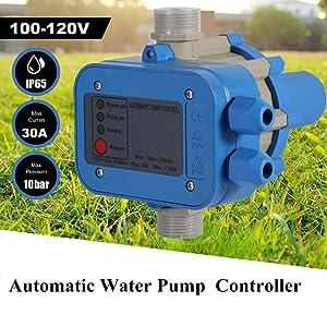100-120V Automatic Electric Water Pump Pressure Switch Controller for Self-priming pump, Jet pump, Garden Pump