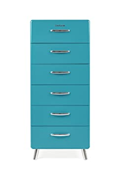 Tenzo COBRA Designer Chest of Drawers, 130 x 56 x 43 cm, Ocean
