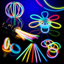 8quot HotLite Brand Glowsticks Glow Stick Bracelets Mixed Colors Tube of 100 Party Favor