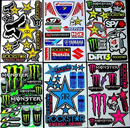 6-sheets-of-motocross-decal-stickers-xsw-monster-energy-drink-rockstar-red-bull-fox