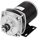 Mophorn Gear Reduction Electric Permanent Magnet Motor 48V DC 1000 Watt Rated Load Speed 3000Rpm Gear Ratio 6:1 with Mounting Bracket for Go Karts Scooters and E-bike (Tamaño: 1KW 48V Brushed)