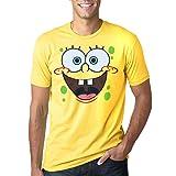 SpongeBob Face Adult T-Shirt-X-Large (Color: X-large, Tamaño: X-Large)
