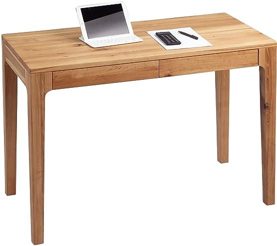 HomeTrends4You 611122scrivania, 110x 76x 55cm, in legno di faggio trattato, con cassetti
