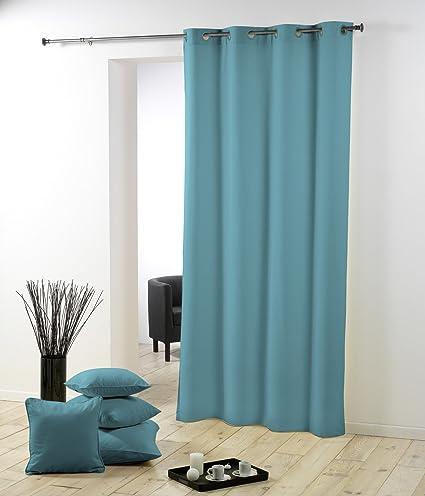 douceur d 39 int rieur 1600528 rideau oeillets oeillets polyester uni essentiel gris. Black Bedroom Furniture Sets. Home Design Ideas