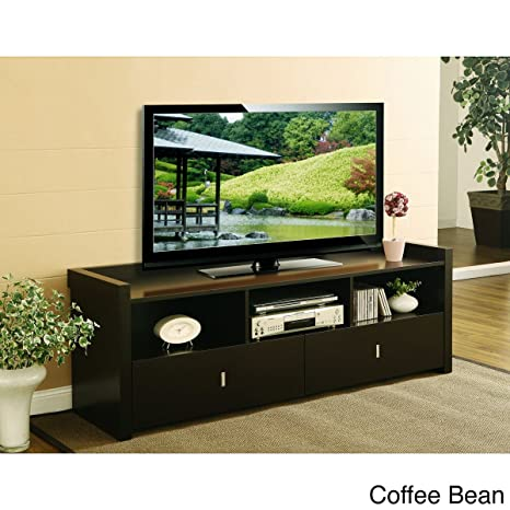 This TV Stand Would Make An Excellent Addition TO Your Living Room Furniture And Decor. The Warm Colors Of This Entertainment Center Serve Well To Tie The Room Together For Time With The Family To Relax In Luxury. (Coffee Bean) 60 Inch size