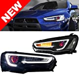 08-17 Mitsubishi Lancer Evo 10 Demon Eye Bi-Projector Xenon Headlights