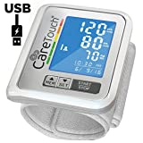 Wrist Blood Pressure Monitor by Care Touch with USB Charging - Slim Digital BP Machine with back-light, adjustable cuff and irregular heartbeat indicator (Tamaño: Platinum Arm Monitor)