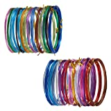 PandaHall Elite 30 Rolls 2 Sizes 15 Colors 16 Feet/Roll Aluminum Craft Wire Flexible Metal Artistic Floral Jewely Beading Wire 18 Guage 20 Guage for DIY Craft Jewelry Making (Color: 15 Colors- 16 Feet, Tamaño: 20 Guage/18 Guage)