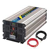 Sug 4000W(Peak 8000W) Power Inverter Pure Sine Wave DC 12V to AC 110V 120V Converter Back up Power Supply for RV, Home, Car Use (Tamaño: 4000W 12VDC)