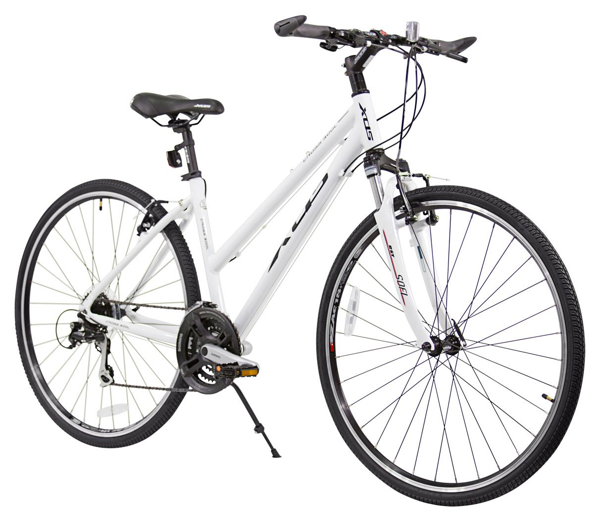 The Xds Women's Cross 300 24-Speed Hybrid Bike