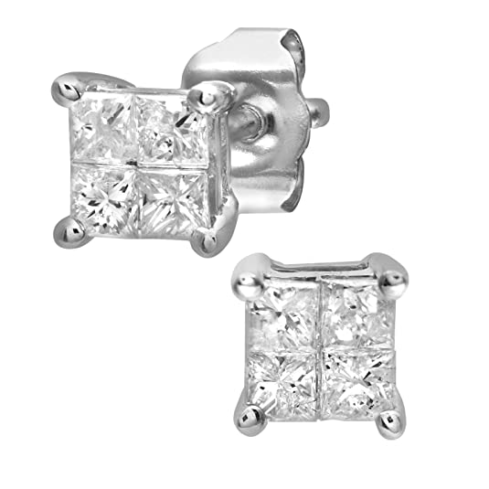 Naava Women's 9ct 0.33ct Diamond Stud Earrings
