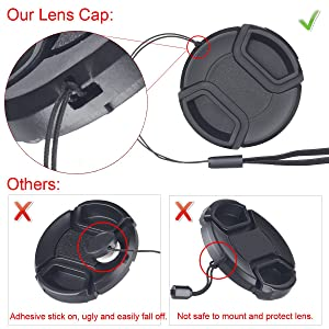 67mm Reversible Tulip Flower Lens Hood Set, Unique Design Camera Lens Hood for Canon Nikon Sony DSLR + Center Pinch Lens Cap with Cap Keeper Leash + Microfiber Cleaning Cloth (Tamaño: 67mm)