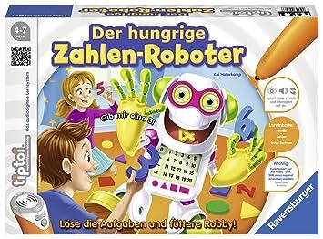 Ravensburger 00706–tiptoi Jeu des chiffres Affamé de robot