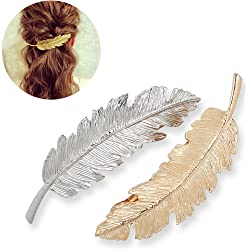 2-Pack Tinksky Leaf Shaped Hair Clip Pin Claw Headwear Hair Accessorie